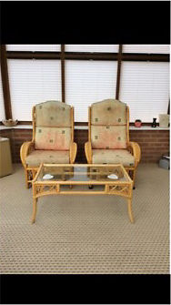 Cane conservatory furniturein Leeds, West YorkshireGumtree - Cane conservatory furniture Two seater settee and two arm chairs with coffee table Good condition £50 for everything or will sell separately