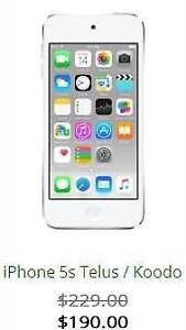iPhone 5s **On Sale** with 3 Months Warranty **CANWEST CELLULAR**
