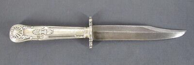 Antique ACIER SUPERFIN Bowie Knife w/Fancy Silver Handle yqz