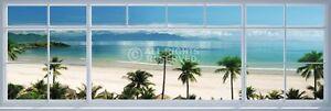 BEACH WINDOW VIEW DOOR POSTER (53x158cm)  NEW WALL ART