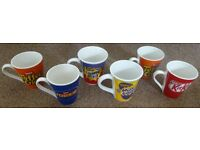 6 Assorted Fun Design Chocolate Advertising Mugs Only £3 the Lot