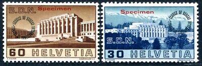 SCHWEIZ BIT 1938 54-55 * SPECIMEN AUFDRUCK ungebraucht RR 340€(S3265