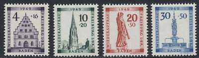 F. Zone Baden Nr. 38-41 A postfrisch / **, Wiederaufbau Freiburg (44005)