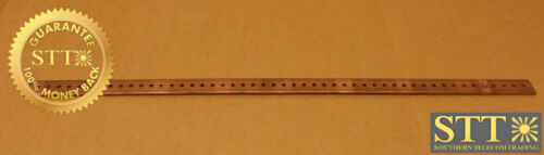 """Copper Bus Bar 1"""" X 25"""" 3/16"""" Holes With 1/2"""" Spacing Center To Center"""