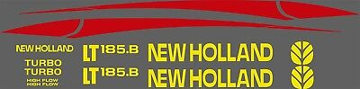 New Holland Lt185.b Skid Steer Decal Kit For Your Loader Lt 185b Free Shipping