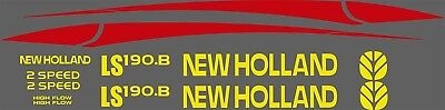 New Holland Ls190.b Skid Steer Decal Kit For Your Loader Ls 190b