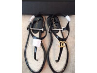 Chanel sandals 37 (uk 4)