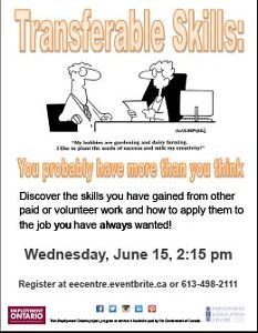 Transferrable Skills - Find out what they are in June at EEC