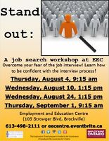 Stand out: A Job Search Workshop at EEC!