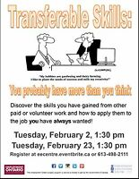 Transferrable Skills - Find out what they are in February at EEC