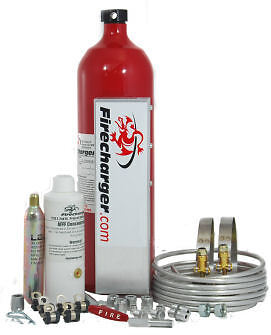 Firecharger Fire Suppression System. Legends, Modified, IMCA WISSOTA Current Model