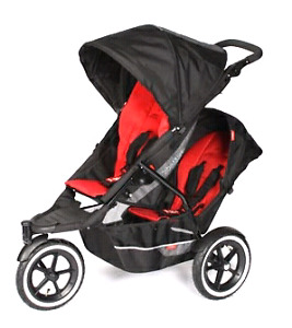 Poussette double phil and teds 3 roues Navigator stroller