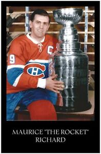 """Maurice """"The Rocket"""" Richard - Stanley Cup 11 X 17 Poster"""