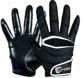 Cutters Mens Football Receiver Glove - Cutters Mens X40 C-Tack Revolution S Black Football Receiver Gloves FAST! B52