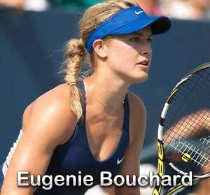 Genie Bouchard's autographed Babolat racquet - New!
