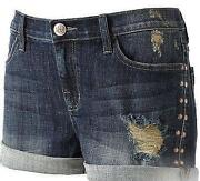 Destroyed Jean Shorts