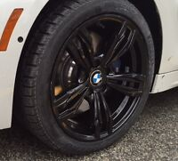 "NEW 18""BMW 5 Series / 6 Series black reps + Kumho I'Zen winters"
