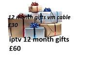 12 MONTH LINES MAG BOX SKYBOX GIFTS OPENBOX ZGEMMA LC MUTANT AMIKO CABLE BOX VM SD OVERBOX