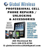 GLOBAL WIRELESS cellphone repair/unlocking, parts and accesories