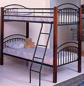 HIGH END BUNK BED WOOD / METAL