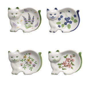 Tea Bag Holders In Shape of a Cat, Set of Four (4), Cute Gift Idea For Tea Lover