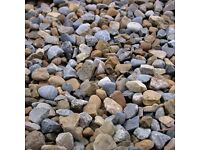 Pebbles River Stone 1/2 A ton and 1/2 ton Builder's Sand