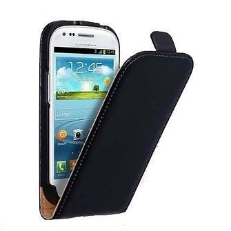 Samsung i8190 i8200 Galaxy S3 mini - Housse Etui Clapet Slim - Noir - Phonit