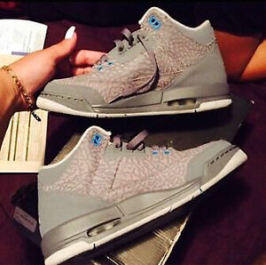 Grey Jordan 3s For Sale