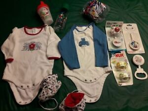 Mixed New Baby Items some Christmas Themed