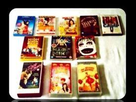 MUSICAL/DANCE FILMS BUNDLE - DVDS & VHS TAPES - 11 TITLES - FOR SALE