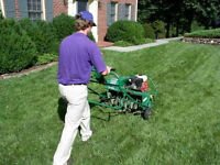 STUDENT LAWN AERATING ONLY $40.00 !! NO TAX !!