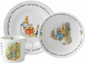 WEDGWOOD PETER RABBIT 'CLASSIC' 3 PIECE SET - NEW/BOXED