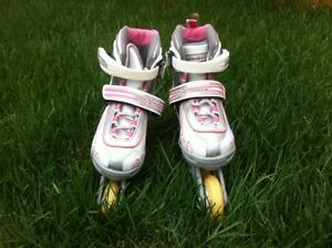 "Pretty New ""Bladerunner"" Roller Skates for kids Barely used"