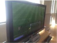 """50"""" LG HD Ready TV, Yamaha surround sound, LG DVD Player"""