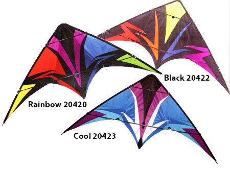 69 in Thunderstruck Stunt Kite from Skydog Black 20422