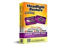 headlight Restore Wipes = Restore Clean Old Foggy Lights Yourself In 2 Mins - Video In Advert