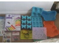 Baking moulds tins and decorations
