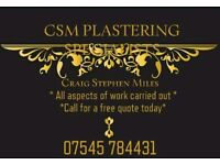 CSM Plastering specialists
