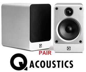 NEW* Q ACOUSTICS BOOKSHELF SPEAKERS - 129402602 - Concept 20 Bookshelf Speaker Pair GLOSS WHITE