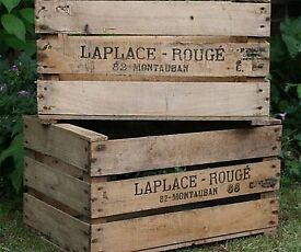 Pre War Vintage French Apple Crates - 1950s / 1960s