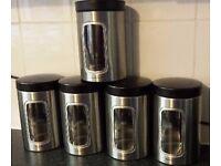 5 Set of Brabantia Storage Jars