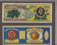 Advertising Paper Canning Labels -  West Lorne & Norfolk