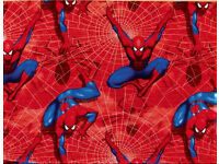 BLINDS - Childrens boys fabric Spiderman (W173 x D116) 2 Roller blinds, will sell separately