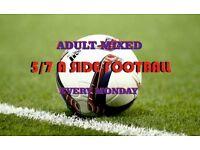 Monday Weekly Adult Mixed Football