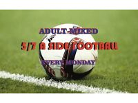 Monday Weekly Adult Mixed Football