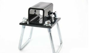RV Bumper 4 inch Square Receiver Adapter 2'' Hitch Mount Bike Rack Cargo Carrier