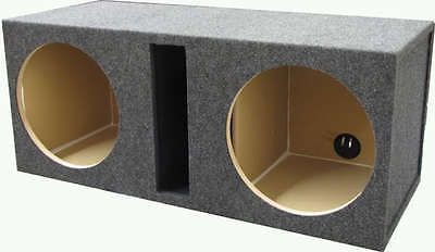 "12"" Dual Labyrinth Vented Ported Sub Woofer Enclosure Box 3/4"" MDF Obcon"