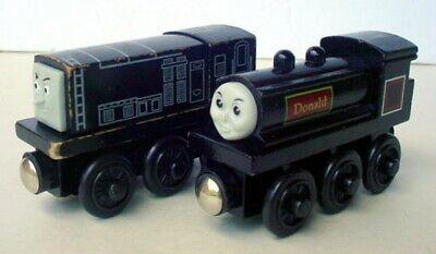 (2) Thomas Train Wooden Railway Friends Donald Engine & Diesel Engine Lot
