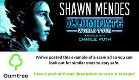 Shawn mendes tickets -- Read the ad description before replying!!