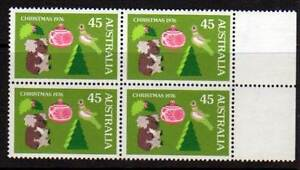 Australian Stamps 1976 Christmas 45c MUH block 4 Coffin Bay Lower Eyre Peninsula Preview